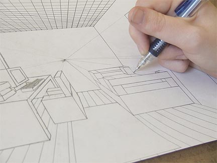 on a one point perspective