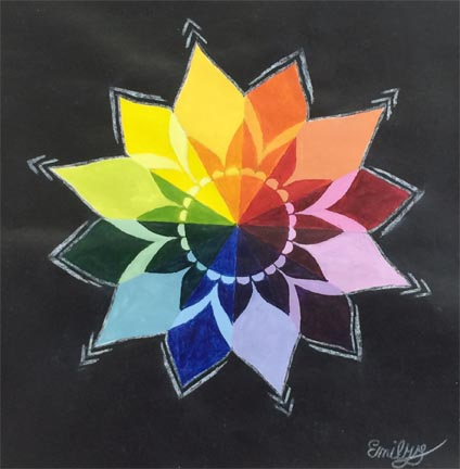 Color Wheel Flower Designs Images
