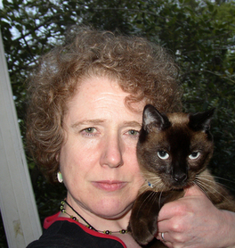 Annette Curtis Klause and 'Lily'